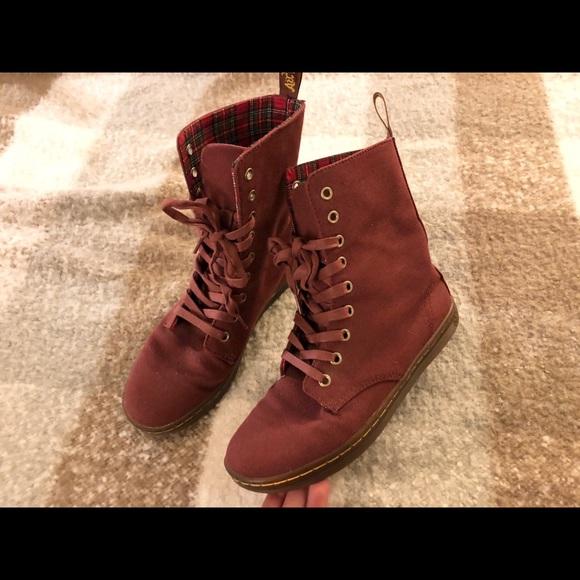 Dr. Martens Shoes - Size 5UK canvas dr.martens burgundy